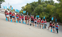 Incoming Occidental College students prepare for and then ride down the L.A. River in kayaks as part of Oxy Engage, Aug. 18, 2015.<br />
