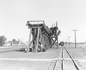South end view of the D&amp;RGW Antonito coaling trestle looking north.<br /> D&amp;RGW  Antonito, CO