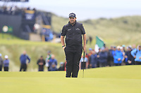 Shane Lowry (IRL) on the 16th green during Sunday's Final Round of the 148th Open Championship, Royal Portrush Golf Club, Portrush, County Antrim, Northern Ireland. 21/07/2019.<br /> Picture Eoin Clarke / Golffile.ie<br /> <br /> All photo usage must carry mandatory copyright credit (© Golffile | Eoin Clarke)