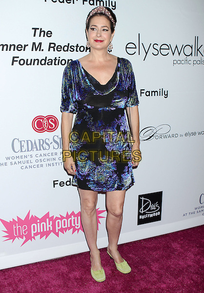Sean Young.2011 Pink Party held at Drai's Hollywood, Hollywood, California, USA..September 10th, 2011.full length dress blue purple cowel neck velvet green shoes .CAP/ADM/RE.©Russ Elliot/AdMedia/Capital Pictures.