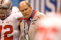 Ohio State assistant coach Jim Bollman is pictured during warmups before the game against Arkansas during 77th Annual Allstate Sugar Bowl Classic at Louisiana Superdome in New Orleans, Louisiana on January 4th, 2011.  Ohio State defeated Arkansas, 31-26.