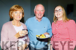 L-R Nora&Declan Lovett with Olive Brick enjoying the cheese&wine the Kilmoyley Tidy Towns and garden awards night in the community hall, kilmoyley last Friday.