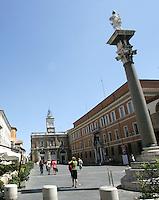 Una veduta di Piazza del Popolo a Ravenna.<br /> A view of Piazza del Popolo in Ravenna.<br /> UPDATE IMAGES PRESS/Riccardo De Luca