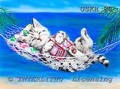 Kayomi, CUTE ANIMALS, paintings, HeavenOnEarth_M, USKH80,#AC# illustrations, pinturas ,everyday