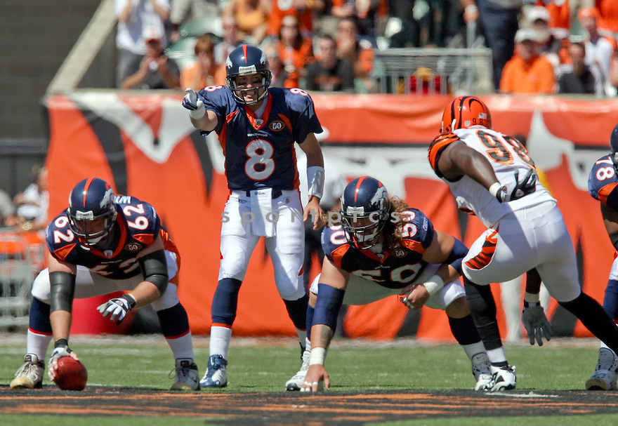 KYLE ORTON,of the Denver Broncos , in actions during the Broncos  game against the Cincinnati Bengals  on September 13, 2009 in Cincinnati, OH  The Broncos beat the Bengals 12-7.
