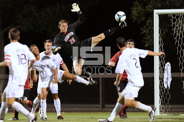 STANFORD, CA - AUGUST 25:  John Moore of the Stanford Cardinal during Stanford's 0-0 tie with the St. Mary's Gaels on August 25, 2009 at Laird Q. Cagan Stadium in Stanford, California.