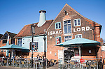 Isaac Lord public house in converted industrial buildings, waterfront redevelopment of the Wet Dock, Ipswich, Suffolk, England