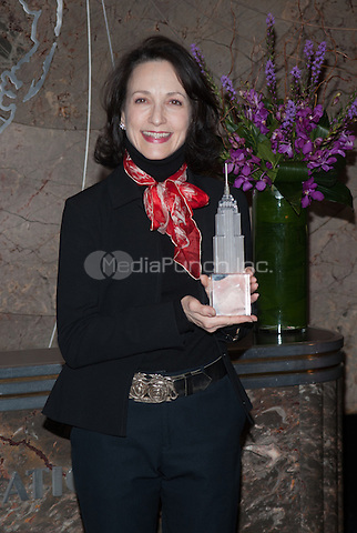 New York,Ny-February 25: Bebe Neuwirth visits the Empire State Building to kick off National Eating Disorders Association's awareness campaign in New York City on February 25, 2013. Credit: John Palmer/MediaPunch