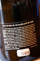 informative back label domaine du vissoux beaujolais burgundy france