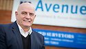Forfar manager Dick Campbell at his Recruitment business, Avenue Scotland Ltd, Dunfermline, Fife.