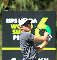 Alexander Knappe (AUS) in action on the 11th during Round 3 of the ISPS Handa World Super 6 Perth at Lake Karrinyup Country Club on the Saturday 10th February 2018.<br /> Picture:  Thos Caffrey / www.golffile.ie<br /> <br /> All photo usage must carry mandatory copyright credit (&copy; Golffile | Thos Caffrey)