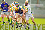 John Griffin Lixnaw in action against  Tom Murnane Kilmoyley in the County Senior Hurling final at Austin Stack Park on Saturday.