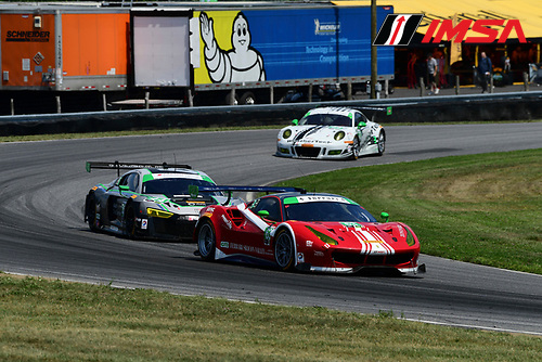 22-23 July, 2016, Lakeville, Connecticut USA<br /> 63, Ferrari, 488 GT3, GTD, Christina Nielsen, Alessandro Balzan<br /> &copy;2016, Richard Dole<br /> LAT Photo USA