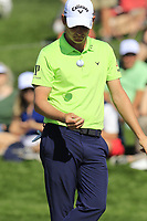 Emiliano Grillo (ARG) on the 8th green during Saturday's Round 3 of the Waste Management Phoenix Open 2018 held on the TPC Scottsdale Stadium Course, Scottsdale, Arizona, USA. 3rd February 2018.<br /> Picture: Eoin Clarke | Golffile<br /> <br /> <br /> All photos usage must carry mandatory copyright credit (&copy; Golffile | Eoin Clarke)