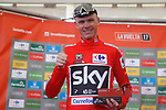 Race leader Christopher Froome (GBR) Team Sky retains the Red Jersey at the end of Stage 20 of the 2017 La Vuelta, running 117.5km from Corvera de Asturias to Alto de l'Angliru, Spain. 9th September 2017.<br /> Picture: Unipublic/&copy;photogomezsport | Cyclefile<br /> <br /> <br /> All photos usage must carry mandatory copyright credit (&copy; Cyclefile | Unipublic/&copy;photogomezsport)