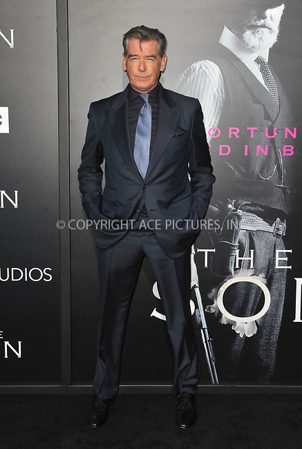 www.acepixs.com<br /> <br /> April 3 2017, LA<br /> <br /> Pierce Brosnan arriving at the premiere of AMC's 'The Son' at the ArcLight Hollywood on April 3, 2017 in Hollywood, California. <br /> <br /> By Line: Peter West/ACE Pictures<br /> <br /> <br /> ACE Pictures Inc<br /> Tel: 6467670430<br /> Email: info@acepixs.com<br /> www.acepixs.com