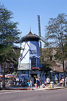 Danish Windmill in the town of Solvang, California, USA
