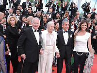 Cannes France May 12 2016 Jim Ivory, Vanessa Redgrave, Charles S. Cohen attends the Money monster Premiere at the Palais des Festival During the 69th Annual Cannes Film Festival