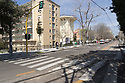 31 marzo 2020, Sassari, viale Italia. Ospedale Santissima Annunziata.