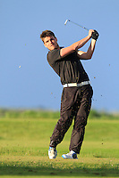 Tom Gandy (Isle of Man) on the 12th tee during Round 3 of The Irish Amateur Open Championship in The Royal Dublin Golf Club on Saturday 10th May 2014.<br /> Picture:  Thos Caffrey / www.golffile.ie