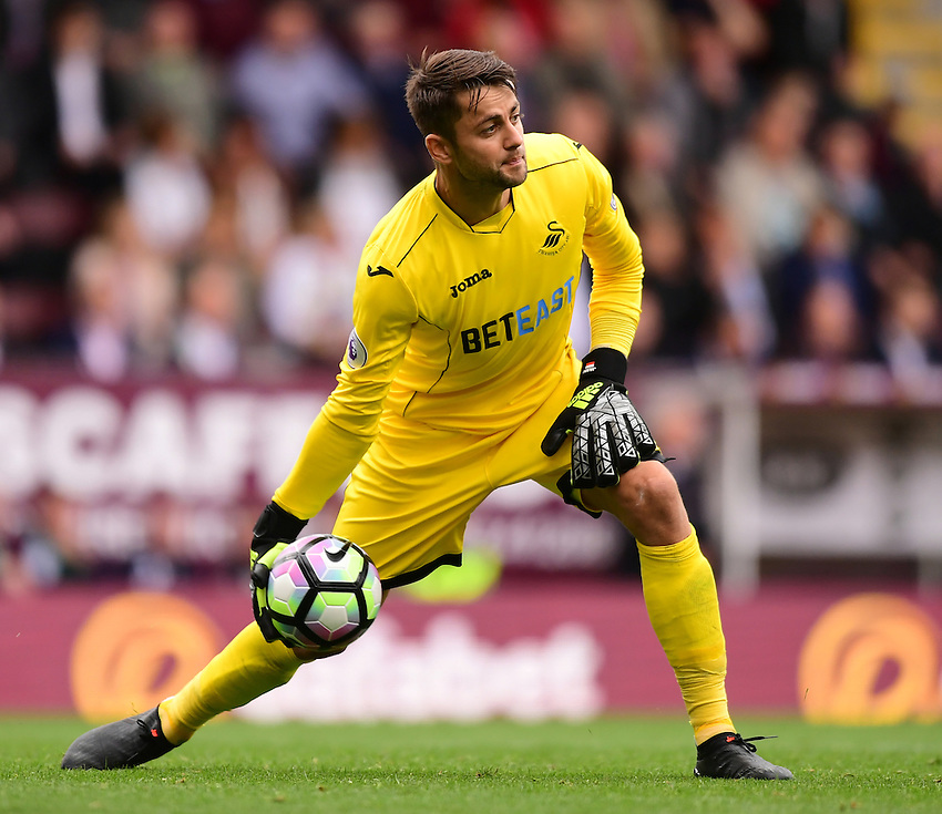 Swansea City's Lukasz Fabianski<br /> <br /> Photographer Chris Vaughan/CameraSport<br /> <br /> Football - The Premier League - Burnley v Swansea City - Saturday 13th August 2016 - Turf Moor - Burnley<br /> <br /> World Copyright &copy; 2016 CameraSport. All rights reserved. 43 Linden Ave. Countesthorpe. Leicester. England. LE8 5PG - Tel: +44 (0) 116 277 4147 - admin@camerasport.com - www.camerasport.com