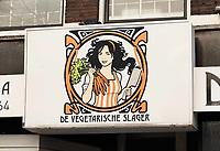 Nederland Den Haag  2019. Logo van de Vegetarische Slager. Foto Berlinda van Dam / Hollandse Hoogte