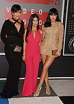 LOS ANGELES, CA - AUGUST 30: (L-R) TV personalities Kris Jenner, Kourtney Kardashian and Kylie Jenner arrive at the 2015 MTV Video Music Awards at Microsoft Theater on August 30, 2015 in Los Angeles, California.