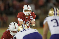 Stanford, CA - October 05, 2019: Jack West during the Stanford vs Washington football game Saturday night at Stanford Stadium.<br /> <br /> Stanford won 23-13.