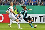 11.08.2019, Carl-Benz-Stadion, Mannheim, GER, DFB Pokal, 1. Runde, SV Waldhof Mannheim vs. Eintracht Frankfurt, <br /> <br /> DFL REGULATIONS PROHIBIT ANY USE OF PHOTOGRAPHS AS IMAGE SEQUENCES AND/OR QUASI-VIDEO.<br /> <br /> im Bild: Valmir Sulejmani (SV Waldhof Mannheim #9), David Abraham (Eintracht Frankfurt #19)<br /> <br /> Foto © nordphoto / Fabisch