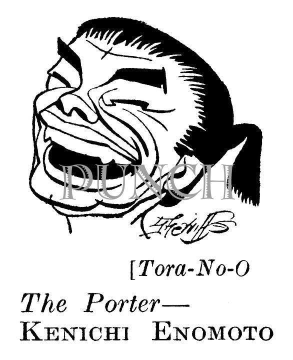 Punch cartoons by Robert Sherriffs<br /> Film Review ; <br /> Tora-No-O ; Kenichi Enomoto