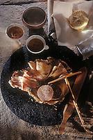 Europe/France/Bretagne/22/Côtes d'Armor: Bouillie d'avoine poêlée, lard roti et galettes - Recette de Patrick Jeffroy