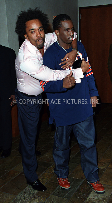 "*WORLD SYNDICATION RIGHTS*..Producer Lee Daniels hosting special charity screening of ""Monster's Ball"" at the Tribeca Grand Hotel in New York. Picture shows Lee Daniels and Sean 'P. Daddy' Combs. December 20, 2001. © 2001 by Alecsey Boldeskul...ONE-TIME REPRODUCTION RIGHTS..HI RES SCAN AVAILABLE UPON REQUEST"