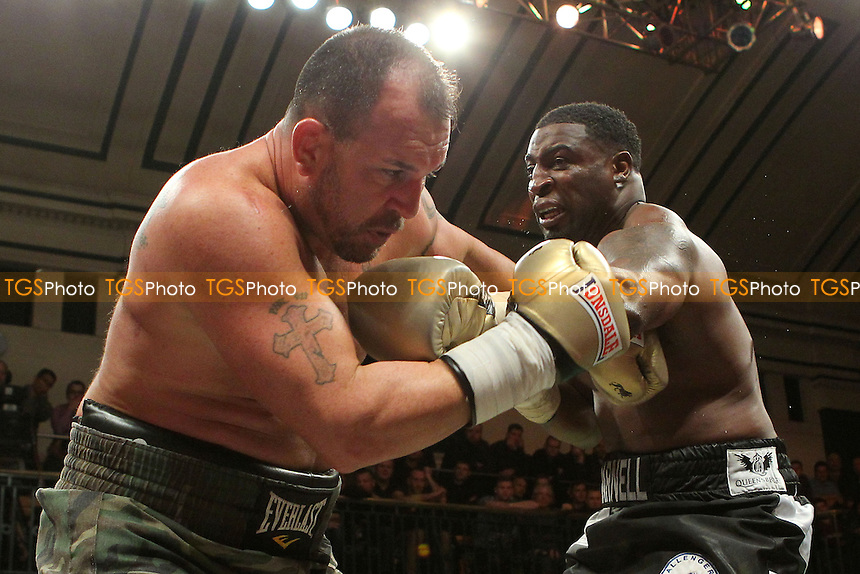 Michael Sprott of the UK defeats Jason Gavern of the USA - UK vs USA Prizefighter International Heavyweight Boxing at York Hall, Bethnal Green, London - 15/11/13 - MANDATORY CREDIT: Gavin Ellis/TGSPHOTO - Self billing applies where appropriate - 0845 094 6026 - contact@tgsphoto.co.uk - NO UNPAID USE