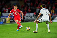 Connor Roberts of Wales in action during the UEFA Euro 2020 Qualifier match between Wales and Azerbaijan at the Cardiff City Stadium in Cardiff, Wales, UK. Friday 06, September 2019