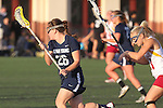 Santa Barbara, CA 02/18/12 - Elizabeth Calderwood (BYU #26) and Brittany Peccia (Arizona State #11) in action during the Arizona State vs BYU matchup at the 2012 Santa Barbara Shootout.  BYU defeated Arizona State 10-8.