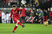 Roberto Firmino of Liverpool ahead of the Premier League match between Swansea City and Liverpool at the Liberty Stadium, Swansea, Wales on 22 January 2018. Photo by Mark Hawkins / PRiME Media Images.