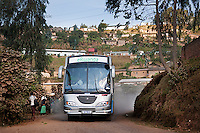 ICT bus on the road in Kabaya, Rwanda. (Photo by Tadej Znidarcic)