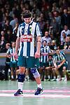 Stockholm 2013-10-16 Handboll Elitserien Hammarby IF - LUGI :  <br /> Hammarby 14 Kasper Ottesen ser nedst&auml;md ut<br /> (Foto: Kenta J&ouml;nsson) Nyckelord:  depp besviken besvikelse sorg ledsen deppig nedst&auml;md uppgiven sad disappointment disappointed dejected