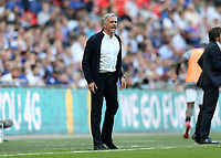 19th May 2018, Wembley Stadium, London, England; FA Cup Final football, Chelsea versus Manchester United; Manchester Untied Manager Jose Mourinho shouting from the touchline