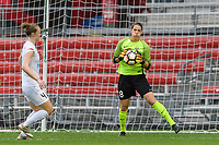 Bridgeview, IL - Sunday August 20, 2017: Nicole Barnhart during a regular season National Women's Soccer League (NWSL) match between the Chicago Red Stars and FC Kansas City at Toyota Park. KC Kansas City won 3-1.