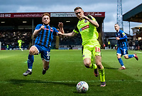 Bolton Wanderers' Ethan Hamilton competing with Rochdale's Callum Camps (left) <br /> <br /> Photographer Andrew Kearns/CameraSport<br /> <br /> The EFL Sky Bet League One - Rochdale v Bolton Wanderers - Saturday 11th January 2020 - Spotland Stadium - Rochdale<br /> <br /> World Copyright © 2020 CameraSport. All rights reserved. 43 Linden Ave. Countesthorpe. Leicester. England. LE8 5PG - Tel: +44 (0) 116 277 4147 - admin@camerasport.com - www.camerasport.com