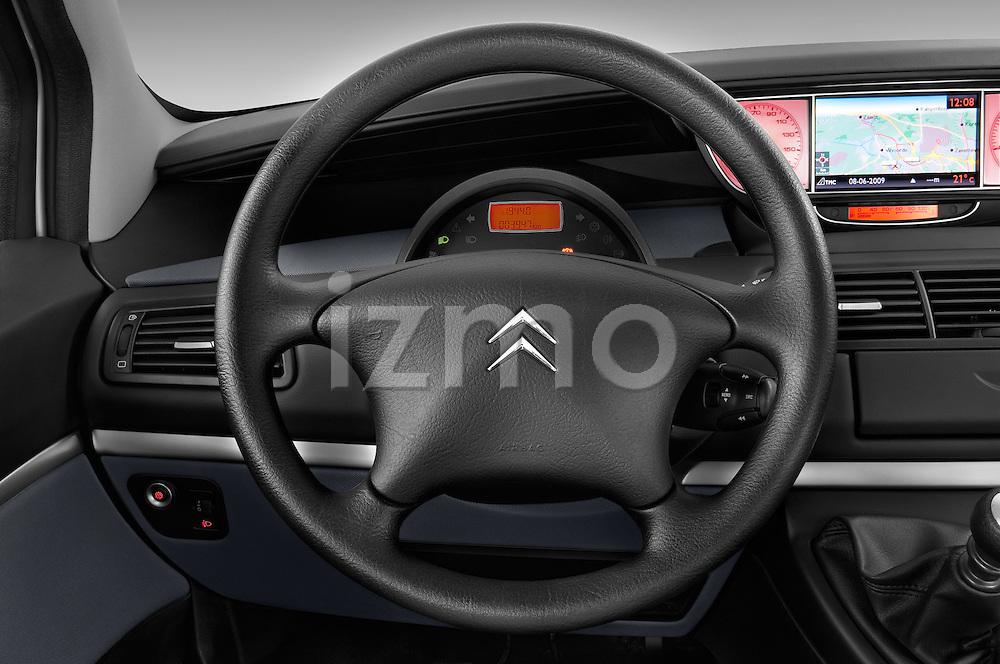 Steering wheel view of a 2002 - 2014 Citroen C8 Airplay Minivan.