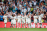 Players of Real Madrid celebrates during the UEFA Champions League 2018-19 match between Real Madrid and Roma at Estadio Santiago Bernabeu on September 19 2018 in Madrid, Spain. Photo by Diego Souto / Power Sport Images