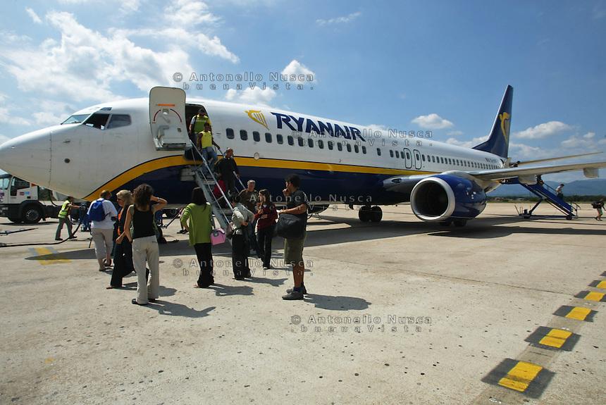 Passeggeri di un volo Ryanair