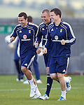 Don Cowie and Kenny Miller having a laugh