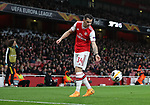 Granit Xhaka of Arsenal takes a corner kick during the UEFA Europa League match at the Emirates Stadium, London. Picture date: 28th November 2019. Picture credit should read: David Klein/Sportimage