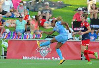 Boyds, MD - Saturday July 09, 2016: Casey Short, Alyssa Kleiner during a regular season National Women's Soccer League (NWSL) match between the Washington Spirit and the Chicago Red Stars at Maureen Hendricks Field, Maryland SoccerPlex.