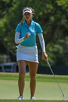 Jessica Korda (USA) after sinking her birdie putt on 4 during round 1 of the 2019 US Women's Open, Charleston Country Club, Charleston, South Carolina,  USA. 5/30/2019.<br /> Picture: Golffile | Ken Murray<br /> <br /> All photo usage must carry mandatory copyright credit (© Golffile | Ken Murray)