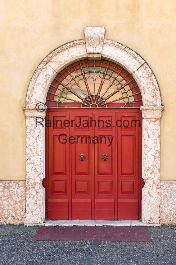 Italy, Veneto, Lake Garda, Peschiera del Garda: door in old town | Italien, Venetien, Gardasee, Peschiera del Garda: Altstadt - Tuer