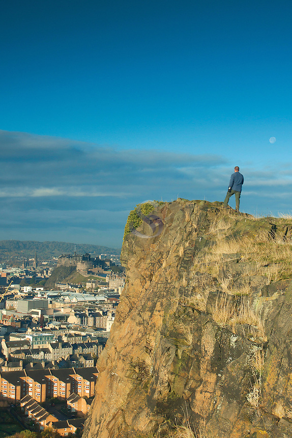 Edinburgh and Edinburgh Castle from Salisbury Crags, Edinburgh